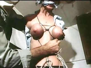 Strung Up - Antique Restrain Bondage Breasts Shackled Cock-squeezing