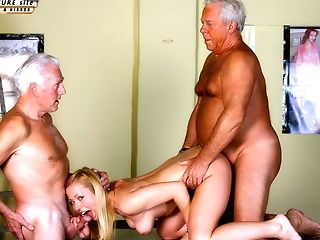 Antique Old Youthfull - Teenie Damsel Fucked Milky Hair Grandpas