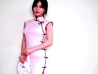 Costume Play Antique Japanese Sundress Qipao 试穿改良旗袍