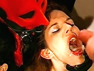 German Retro Dark Haired Deepthroats Rather Big Knobs And Gets Facial Cumshot Jizz Flows