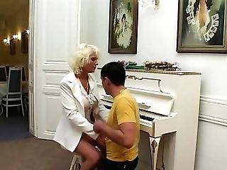 Youthfull Fellow Covets To Retro Blonde Matures Lady And Fucks Her Hard