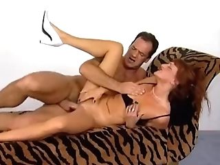 Skinny German Retro Cougar Erects Big Beef Whistle With Deepthroat Suck Off