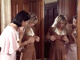 Lewd Brief-haired Dark Haired Wants To See Blonde's Tits