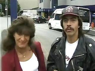 80s German Dude Picks Up Precious Retro Cougar To Have Hard-core Fuck Outdoors