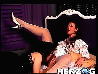 Two Antique Dark Haired Matures In Stockings Love Lezzing And Cunt And Asshole Going Knuckle Deep