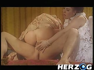 Two Whores In Antique Garments Love Vulva Frolicking Before Xxx Threesome Fuck