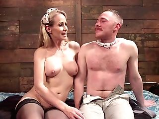 Four-eyed Feminized Male Boy Was Astonished With Mistress's Plans