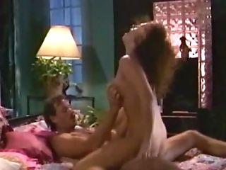 Cock-squeezing Huge-boobed Stunner In Milky Nighties Gets Non-traditional In The Bedroom