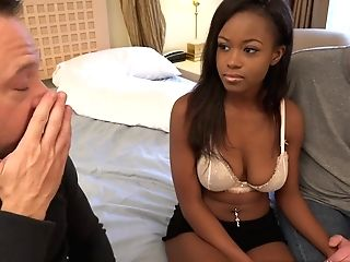 Hot Huge-titted Black Takes Part In Classical Hotwife Porno Scene