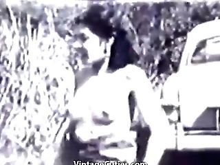 Exquisite Duo Of Brunettes In Milky Garbs In A Steamy Session With A Nasty Boy In A Park