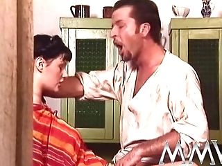 Horny Bearded Blacksmith Pounding Hard Buxomy Brown-haired Mom's Asshole