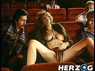 Curvy Antique Dark-haired With Natural Tits In A Wool-adorn Gets Group Banged In The Cinema