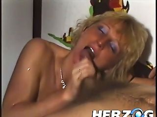 Horny Blonde Wifey Gets Fucked Hard By Her Hairy Spouse With A Big Boner