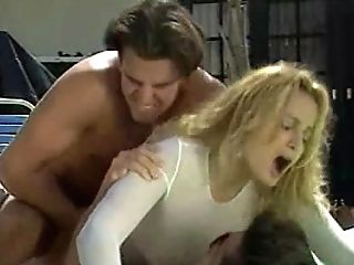 Youthful Blonde Tramp In Milky Sweater Gets Group-fucked By The Pool