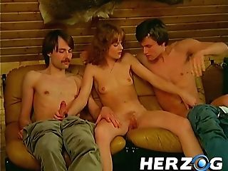 Sexy Retro Teenage Chicks Getting Their Shaggy Twats Pierced In Various Places