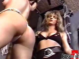 Buxom Dyke Domme Penalizes Sub After Playing With Her