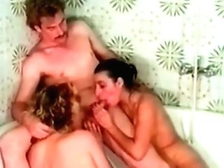 Classical Threesome In Bathroom