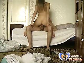 Mega-slut Russian Stepmom Trains Romp To Her Stepson